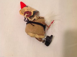 Vintage look Handmade Felt Mouse Ornament in Santa's Beard and Hat w/Candy cane image 5