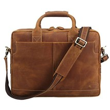 Fashion Genuine Leather Mens Laptop Briefcase Messenger Shoulder Bag Tot... - $137.35