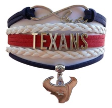 Houston Texans Football Texan Bull Fan Shop Infinity Bracelet Jewelry - $9.99