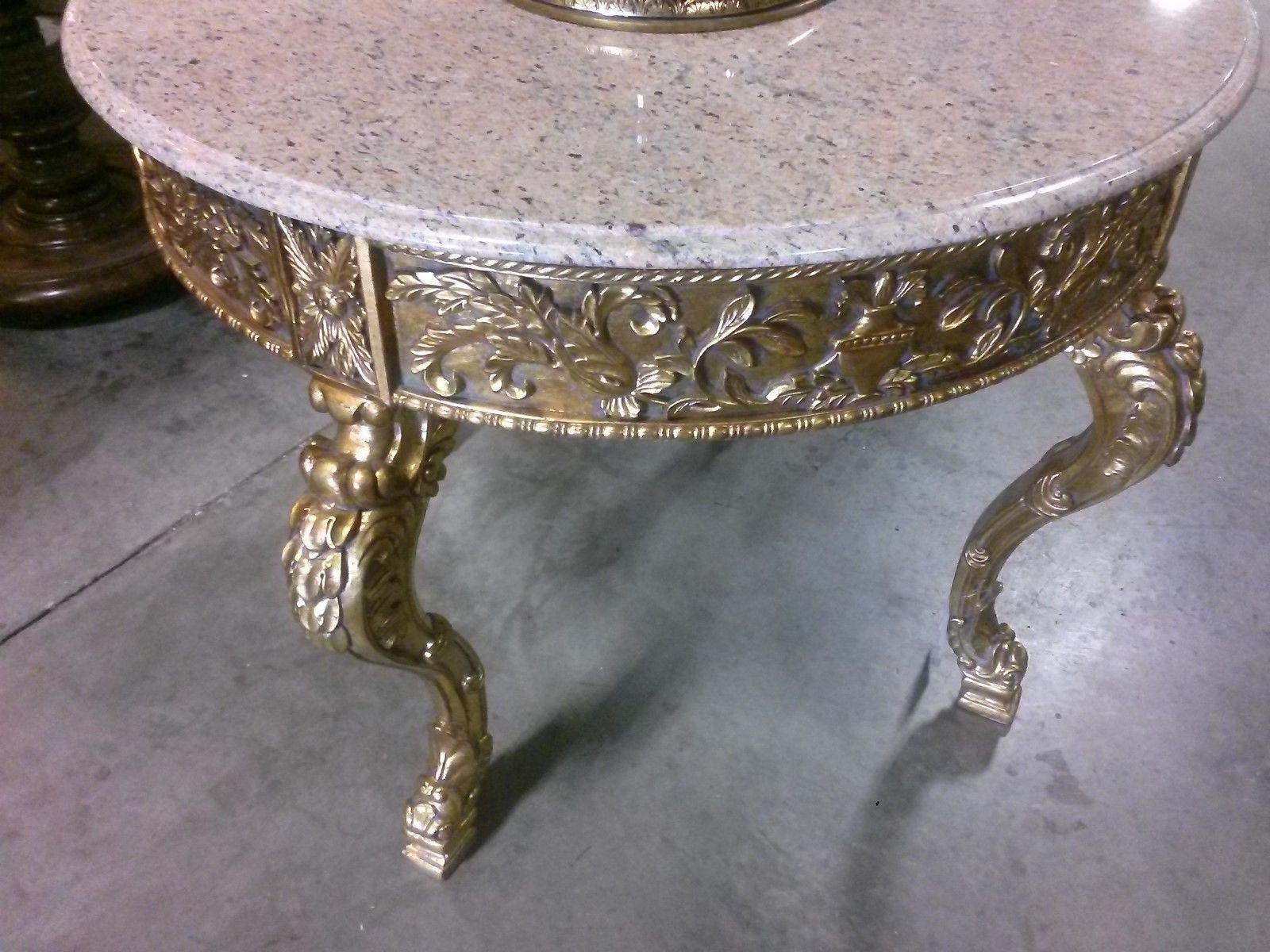 Foyer Table With Marble Top : Gilt marble top foyer center table  h tables