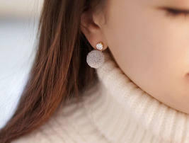 Front and Back Cubic and Yarn pom pom Ear Jacke... - $13.00