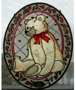 Joan Baker Hand-Painted Teddy Bear Suncatcher - $22.00