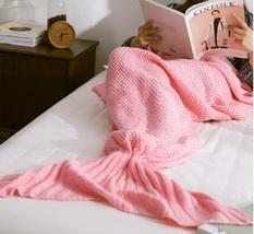 Mermaid Blanket Pattern Crochet Knitted Mermaid Tail Blanket Adult Child Bed Kid - $19.50+