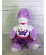 Build A Bear Purple Sparkle Stegosaurus Dinosaur Dragon Stuffed Plush An... - $31.67