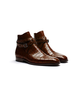 Handmade Alligator Texture Jodhpurs Boots, Crock Dress Genuine leather B... - $189.97+