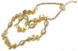 Gold Colour Statement Necklaces Beaded Necklaces Design 11136 - $18.80