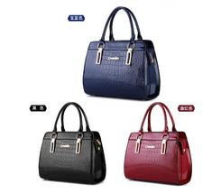 Women Leather Handbags Stone Pattern Shoulder Bags Large Tote Bags M150-1 - ₨2,589.65 INR+