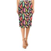 Tropical Feathers Tribal Midi Pencil Skirt - $32.99+