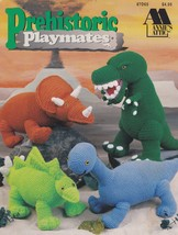 Prehistoric Playmates, Annie's Crochet Toy Dinosaur Pattern Booklet 87D6... - $18.95