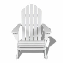 vidaXL Garden Rocking Chair Wood White Rocking Chair Hardwood Firwood Seat image 2