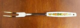 "Vintage EKCO Chromium Solid Meat Utility Fork White Nylon Spice of Life 12"" - $9.56"
