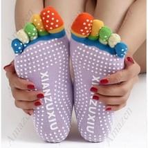 Stylish Yoga Anti Skid Non Slip Socks - Colorful 5 Finger Toe Breathable... - $29.90