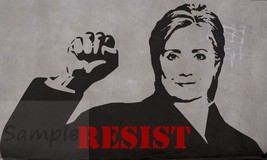 """Hillary Clinton Post-Elections """"Resist"""" Banksy-style vintage poster 300g... - $9.99"""