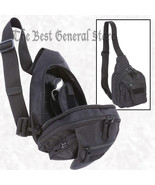 Black Sling Pack with Concealed Handgun Weapon Holster Small Backpack Gu... - $29.89