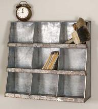 Industrial Galvanized Wall Cubbies, Craft Storage, Organizer, Spice Rack - $89.99
