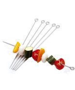 "Stainless Steel 12"" Skewers, Set of 6 - $8.99"