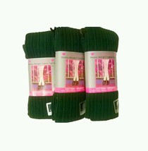 Girls heavyweight green cable design tights 3 p... - $14.95