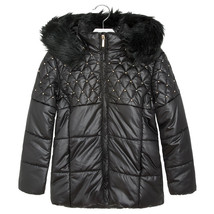 Mayoral Big Girl Tween Studded Puffer Coat With Removable Hood