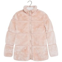 Mayoral Big Girld Tween 8-18 Tier Faux Fur Jacket