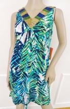 Nwt Style & Co Sleeveless Summer Blouson Dress Sz PP Petite Plus Green P... - $27.67
