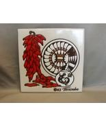 Vintage 1983 Ceramic ~Cleo Teissedre Art Tile Art Southwestern Motif  - $12.29