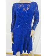 NWT Lauren Ralph Lauren Sequin Illusion Cocktail Party Lace Dress Sz 8 B... - $79.15