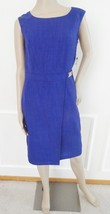 Nwt Ellen Tracy Faux Wrap Sheath Sleeveless Cocktail Party Dress Sz 4 Pu... - $59.35
