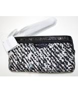 BRAND NEW  COACH DONEGAL BLACK GRAY WHITE DOUBLE ZIP WRISTLET 52287 - $60.00