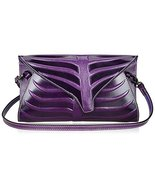 Pijushi Leaf Designer Handbags Embossed Leather... - $145.56