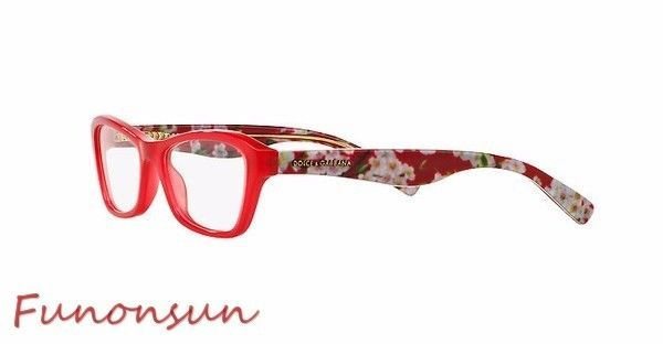 5ad61a6b3fdad S l1600. S l1600. Previous. Dolce   Gabbana Women s Eyeglasses D G 3202  2850 Red Floral Rectangle Frame