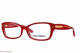 Dolce & Gabbana Women's Eyeglasses D&G 3176 2775 Red Gold Rectangle Frame - $101.85