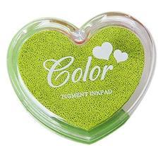 Set of 3 DIY Easy Paint Antique Sparkle Dazzle Pigment Inkpad, Green