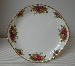 "OLD COUNTRY ROSES Royal Albert 10.5"" HANDLED CAKE PLATE Sandwich China E... - $24.24"