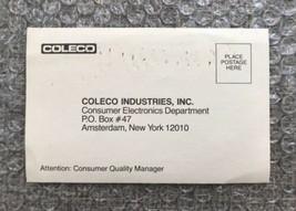 Original Coleco Industries Cartridge Warranty Registration Reply Card Po... - $4.27