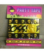 Police Line... Do Not Cross Warning Caution Halloween Party Tape 18 feet... - $3.99