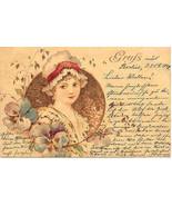 Grus Aus Berlin Vintage 1898 Post Card - $15.00