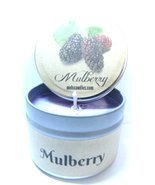 4oz Soy Candle Tin - Mulberry - Handmade with Essential Oil Easy to take... - £4.40 GBP