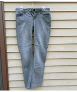 Women's Size 4 Jordache Bootcut Faded Med. Grey/Black Jeans Low Rise Ins... - $19.30