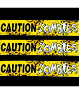 Haunted House Prop Bloody--CAUTION ZOMBIES--War... - $3.93