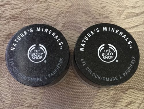 The Body Shop Eye Color Colour Nature's Minerals 02 Radiant Graphite X2 - $34.60