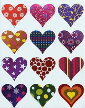 Colorful Hearts Stickers Decorative Heart Shaped Label For Arts Favors C... - $6.92