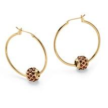 Birthstone Gold Tone Bead Hoop Earrings - $19.99