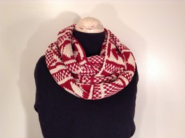 Nordic infinity scarf warm cozy reversible choice red blue gray beige black