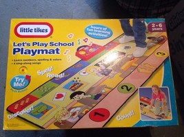 NEW! Little Tikes Let's Play School Playmat Toy 2003 - $44.50