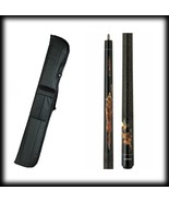 New Action ADV85 Pool Cue Stick - Black Maple w/Wolves & Moon 18 - 21 oz... - $89.15