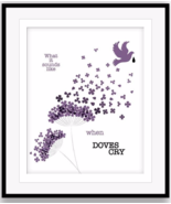 PRINCE WHEN DOVES CRY Song Lyric Art Rock Music Poster (PRINTS CANVAS PL... - $19.79+