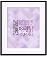 James Taylor Song Lyrical Art Canvas (YOUVE GOT A FRIEND) 70s Music Post... - $19.79+