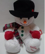 "Dillard's 2003 Christmas Holiday Stuffed Plush Snowman 22"" - $21.99"