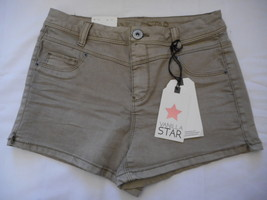 Women's Juniors Vanilla Star High Rise Shortie Shorts Gray Stone Size 0 NEW - $21.77