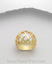 14K Gold Plated  Lattice Weave Dome Ring - $19.95